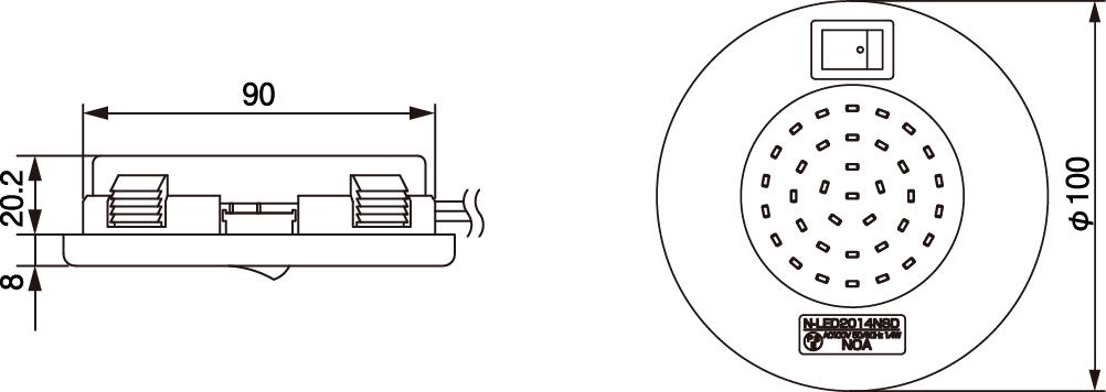 N-LED2014 寸法